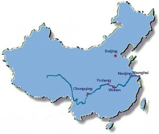 Yangtze River flowing through nine provinces