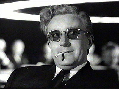 Peter Sellers and the paralyzed former Nazi Dr. Strangelove.