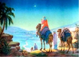 The star guided the wise -men.