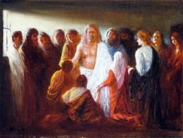 Jesus appeared to the Eleven after the resurrection.