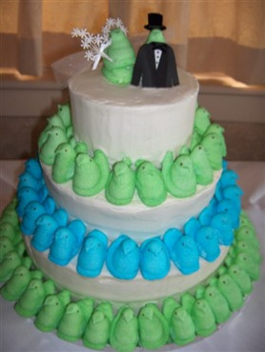 A Peeps wedding cake. What more could a girl want?