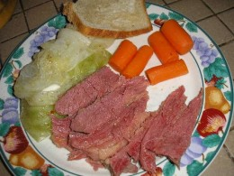 Ah. Traditional Irish American Corned Beef and Cabbage.