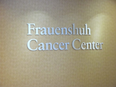 Inside of the newly remodeled cancer center