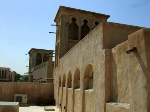 Windtowers in the historical area of Bastakia in Dubai