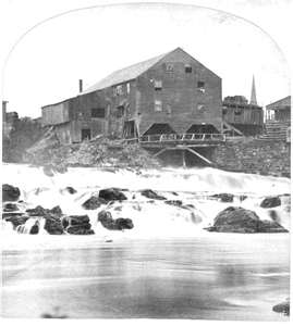 First Operating Saw Mill Located near York, Maine