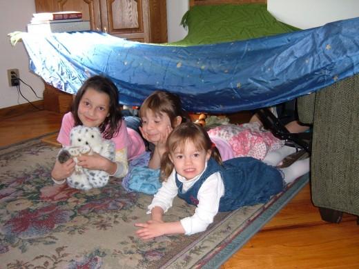 Three cousins having fun.