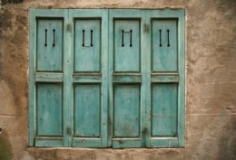 Turquoise Teal Shutters