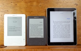 A Kindle 2, Kindle 3 and original iPad. This link is also a good blog with a different perspective on upgrading.