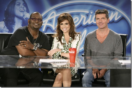 American Idol judges - Season 1 to 7 - from l-r: Randy Jackson, Paula Abdul, Simon Cowell