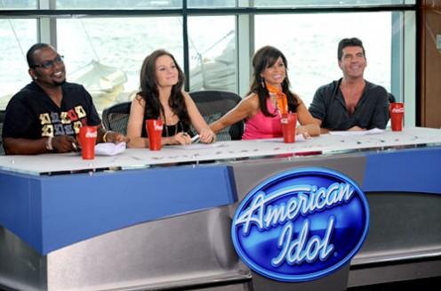 American Idol judges 2009 - Season 8 - from l-r: Randy Jackson, Kara DioGuardi, Paula Abdul, Simon Cowell