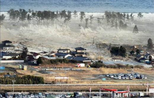 tsunami hit Japan