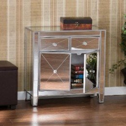 Bethel Hu106 - Mirrored Bedside With 2 Drawers