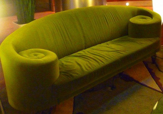 Interesting set of sofas in the Magnolia Hotel lobby.