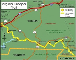 the Virginia Creeper Trail