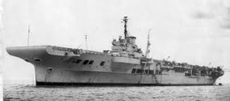 British aircraft carrier, HMS Illustrius.  Even the names convey the attitude, eh?