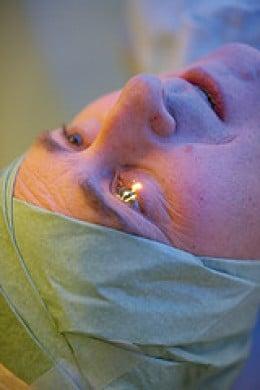 preparing for eye surgery