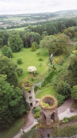 Looking down from the Battlements at Castle Blarney