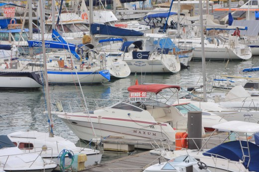 Boats in the marina at Funchal