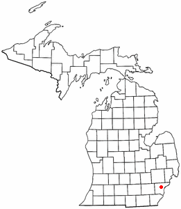 Map location of Dearborn, Michigan