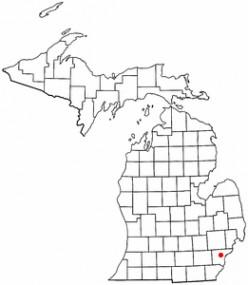 Map location of Dearborn, Michigan