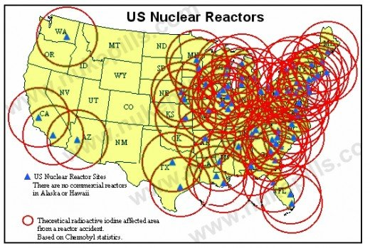 Nuclear radiation risk map