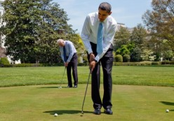 While Japan Suffers Obama Plays Golf