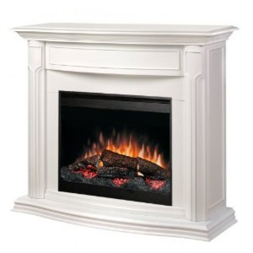 Dimplex Addison DFP69139W Electric Fireplace Mantel with Firebox, White -- image credit: amazon