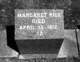 Grave of Margaret Rice