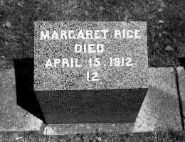 Grave of Margaret Rice