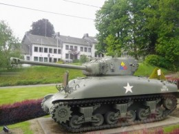 Tank of the 7th Armored Division on display at St. Vith
