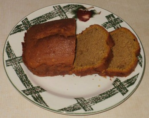 Finished pumpkin bread