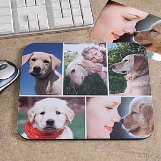 Personalized Mouse Pad Pet Photo Montage