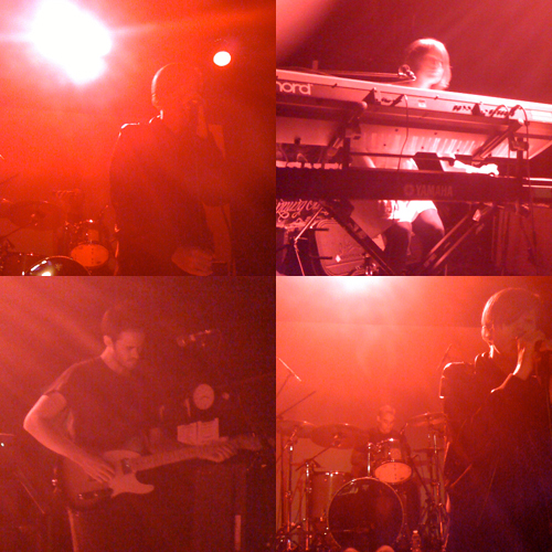 The Jezabels at the Bowery Ballroom on March 13: Hayley Mary, vocals; Heather Shannon, keyboards; Nik Kaloper, drums; Samuel Lockwood, guitar. (Photos: Joshua Pringle)