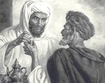 Moroccan tea ritual