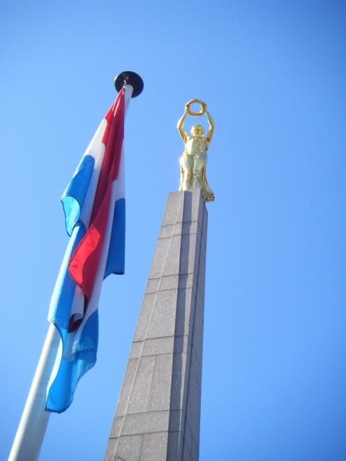 The Gelle Fra war memorial in Luxembourg City