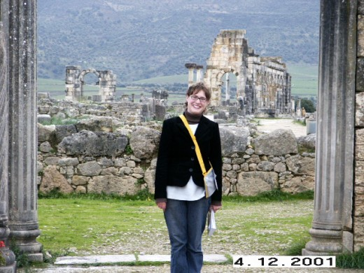 Volubilis is surrounded by a beautiful green environment.