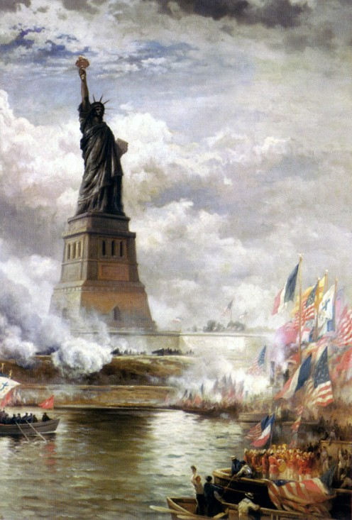 'Statue of Liberty unveiled', 1886, by Edward Moran