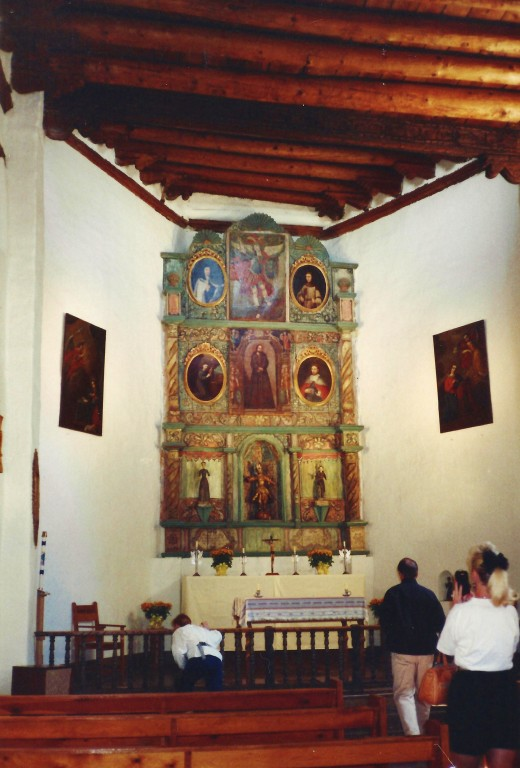 Looking toward the altar inside San Miguel Chapel.