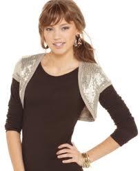 4. Short sleeve sequined bolero
