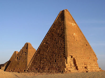 These pyramids are typical of Upper Egypt and are though to be older than the pyramids to the north in Lower Egypt.