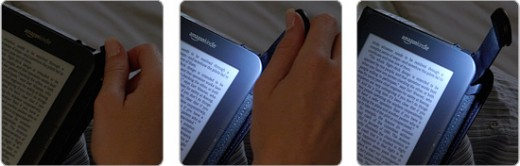 The light pulls out in the Kindle cover. You can also get covers without a light.