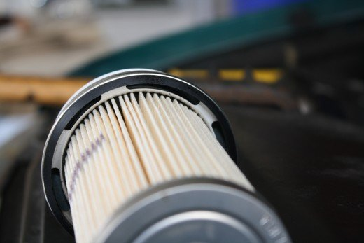 The large slot in the filter is shown here, right top slot in photo.
