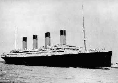 Photo of the Titanic as it left Ireland