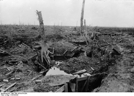 Battlefield at Armentieres, 1914