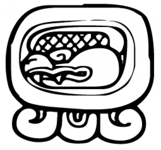 Chikchan is the glyph for the fifth day of every distinct month. The glyph looks like an artist rendition of a rattlesnake, sacred to the Maya. For the 19th month, this is the last glyph.