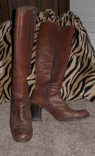 Don't be afraid to mix black with your favorite brown boots!