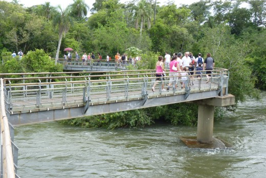 One of many walkways at Iguazu Falls