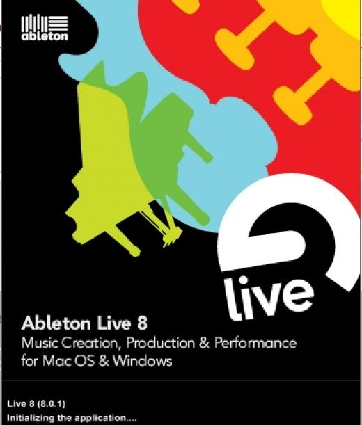 Ableton Live 8, the software I use to Sample and Sequence audio