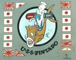 Piece of nose art decorating aircraft in World War 2.  This one features Popeye.
