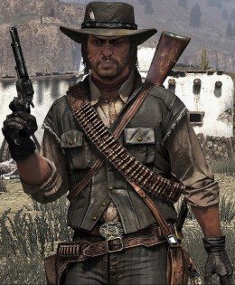 Marston's grizzled look is common of Old West heroes and outlaws alike and is reminiscent of Clint Eastwood in a lot of ways